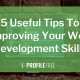 5 Useful Tips to Improving Your Web Development Skills